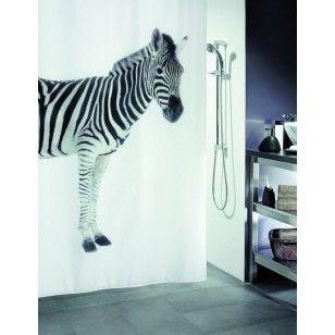 Duschdraperi zebra