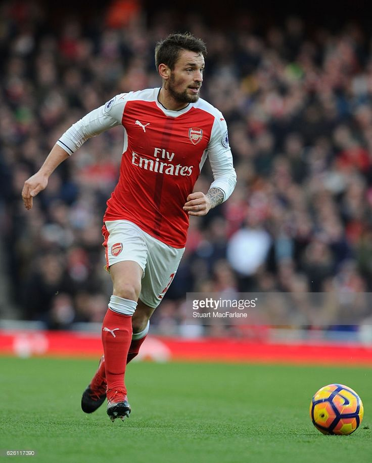 Mathieu Debuchy of Arsenal during the Premier League match between Arsenal and AFC Bournemouth at Emirates Stadium on November 27, 2016 in London, England.