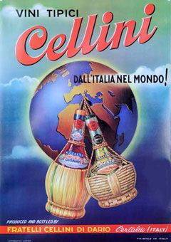 """Vini Tipici Cellini"" c1950 http://www.dkvintageposters.com/Posters/Food_and_Drink/smlCellini.jpg"