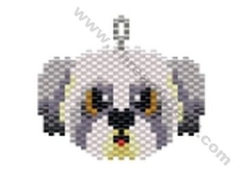 Shih Tsu Dog Pendant Bead Pattern By ThreadABead