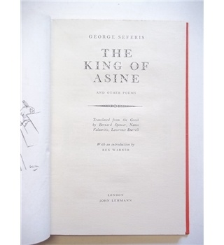 The King of Asine and Other Poems - George Seferis - 1948 | Oxfam GB | Shop