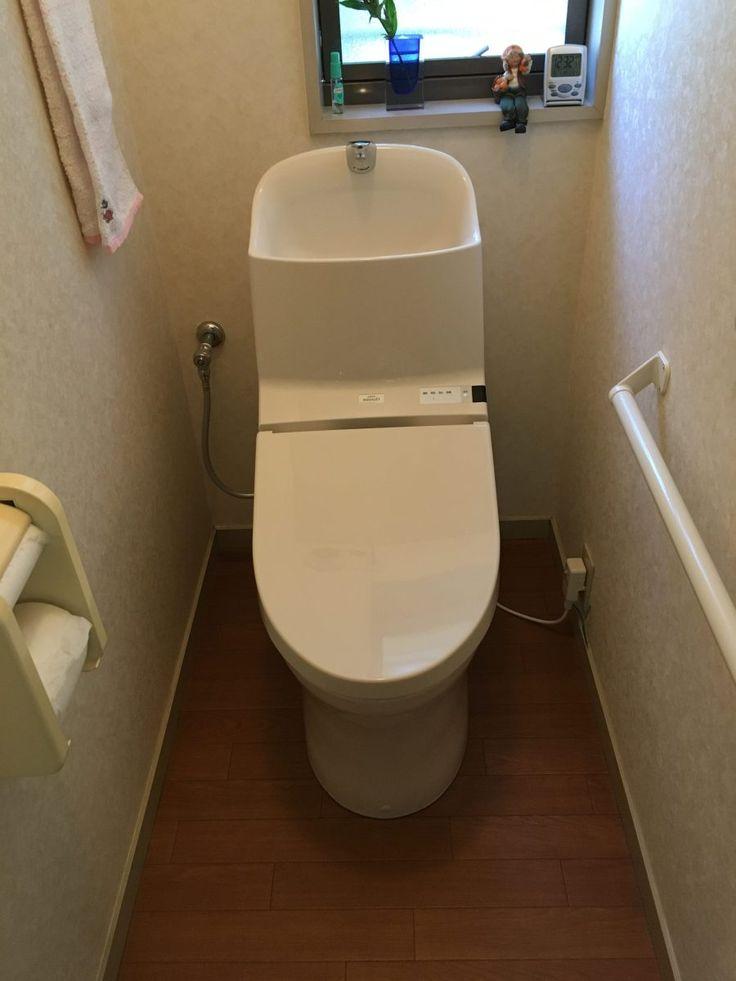 GG1-800施工事例|狭山市戸建てをシュレット壊れちゃんたので手洗いの大きいGG-1にしてみました。男性好みのでっかい手洗い器搭載一体型