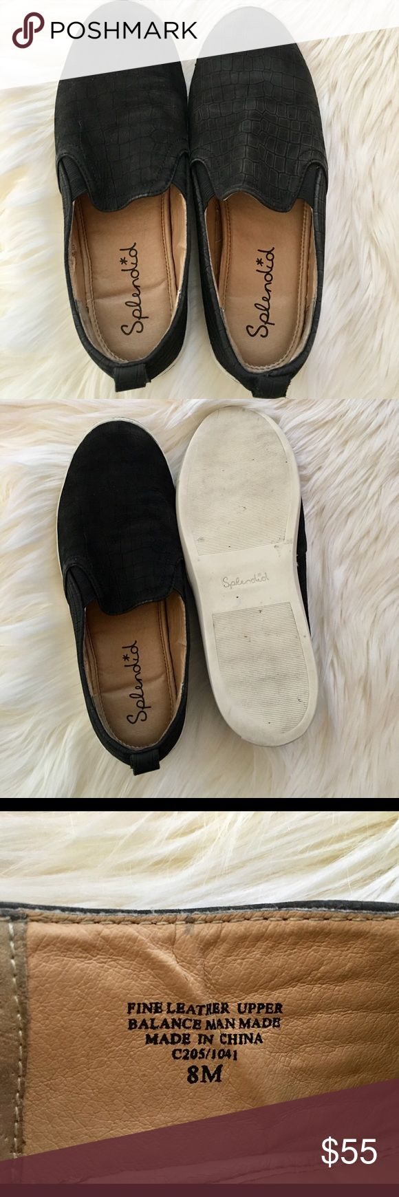 🌟✨ Splendid slip-on sneakers 🌟✨ size 8 🌟✨ Excellent condition! Fine Leather Upper 🌟✨Man made!! Splendid Shoes Sneakers