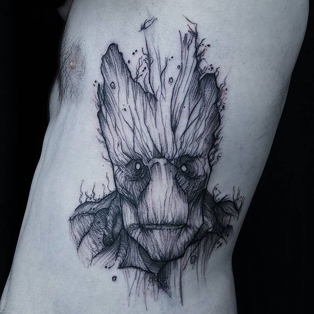 groot tattoo by jean carcass groot groottattoo groottattoos guardiansofthegalaxy. Black Bedroom Furniture Sets. Home Design Ideas