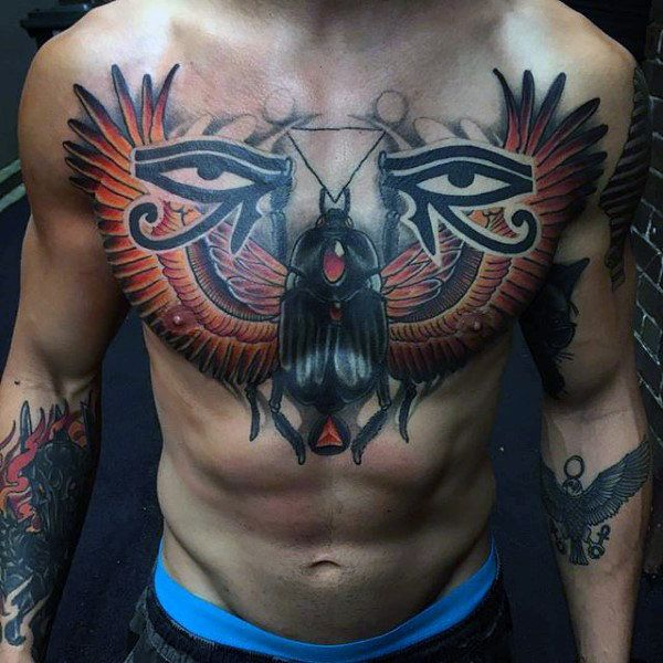 Egyptian Chest Tattoo Designs