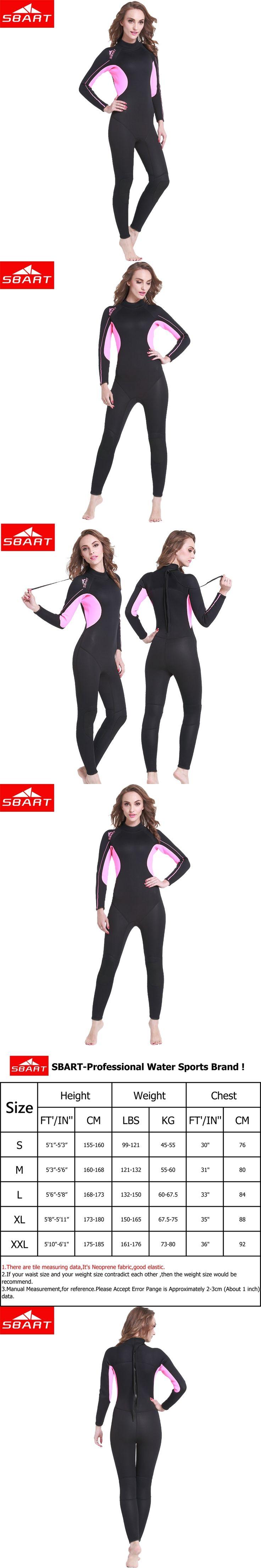 SBART Full Body Neoprene Wetsuit Women Surfing 3MM Diving Suit Anti-UV Diving Equipment Triathlon Wetsuits for Women Swimming J