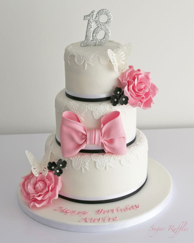 Cake Decoration For 18th Birthday : 105 best 18th birthday cakes images on Pinterest 18 ...