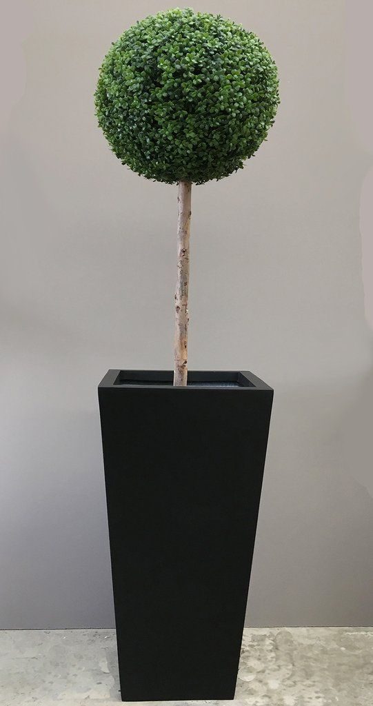 Large Outdoor Artificial Topiary Ball Tree Made With A Natural Stem And Uv Resistant