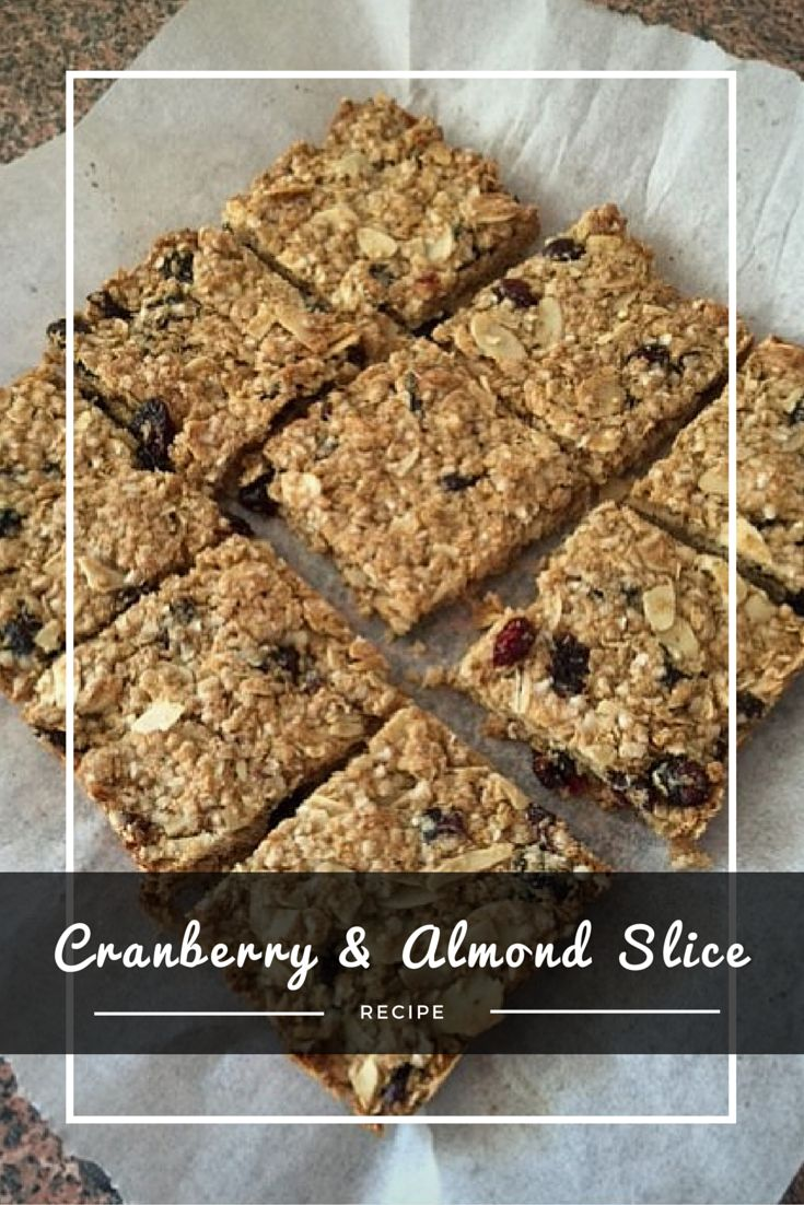 CRANBERRY & ALMOND SLICE is one of my favorite snacks to pair my cup of tea.