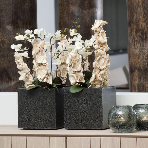 Donica ogrodowa ceramiczno akrylowa 20X20X20 cm, Miloo Home - Wyposażenie wnętrz