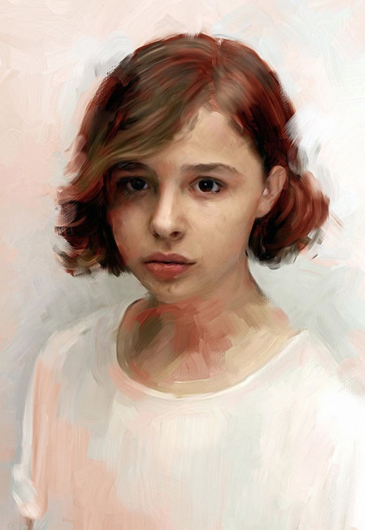 """Chloe"" - Miklós Földi & Petur Nagy {figurative art beautiful female head woman face portrait cropped digital painting} http://mikipetur.com"