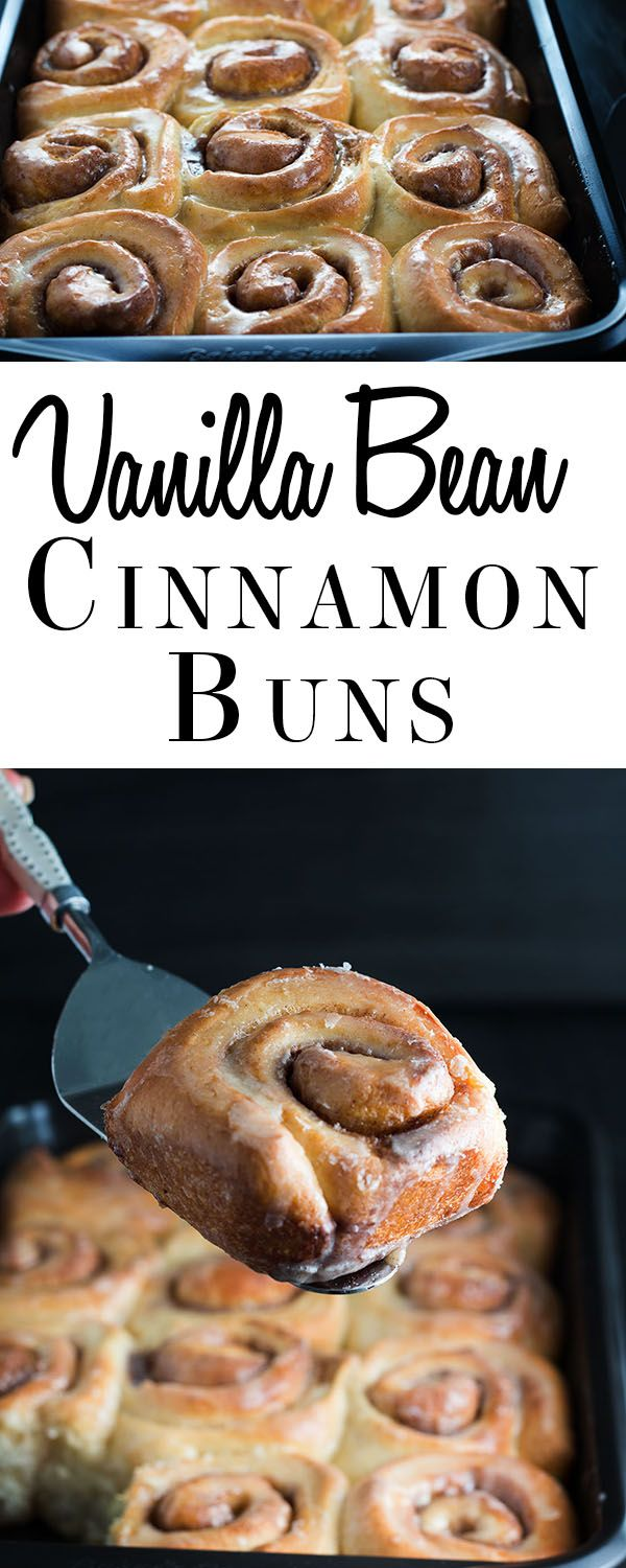 Vanilla Bean Cinnamon Buns - this recipe makes fluffy, soft buns ...