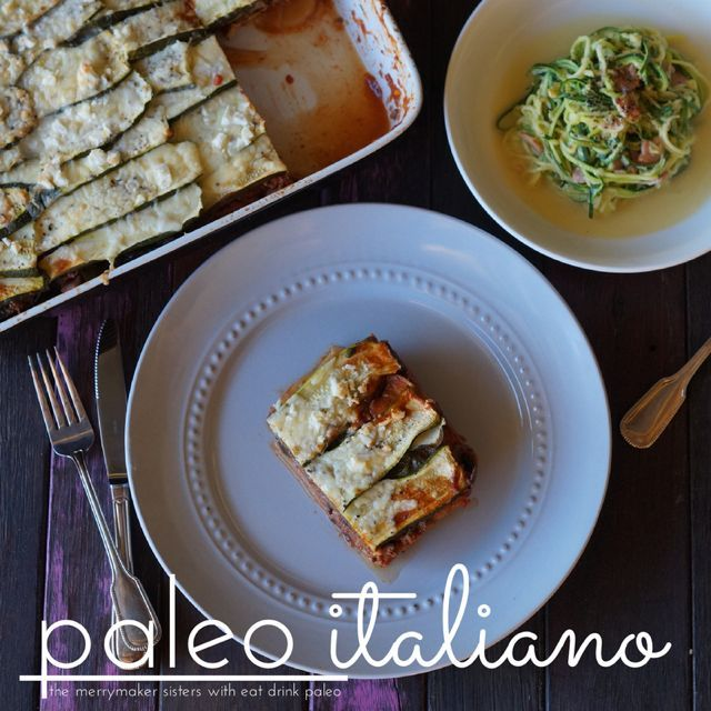 The Merrymaker Sisters give my paleo lasagna and zucchini carbonara a go in their kitchen. Check out the review here!
