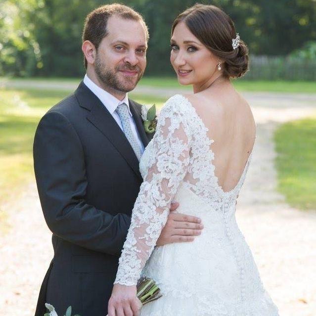 Beautiful bride I did #updo #bride #bridalhair #brunette #classic