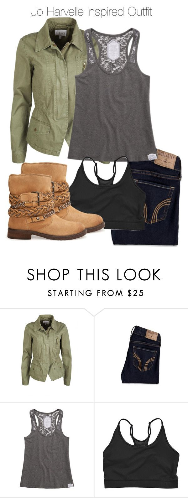 """""""Supernatural - Jo Harvelle Inspired Outfit"""" by staystronng ❤ liked on Polyvore featuring Hollister Co., Superdry, Rubber Doll, MANGO, Boots, jeans, spn and joharvelle"""