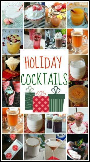 Holiday Cocktails - great list of drinks and recipes perfect for Christmas, New Year's, or a holiday party!