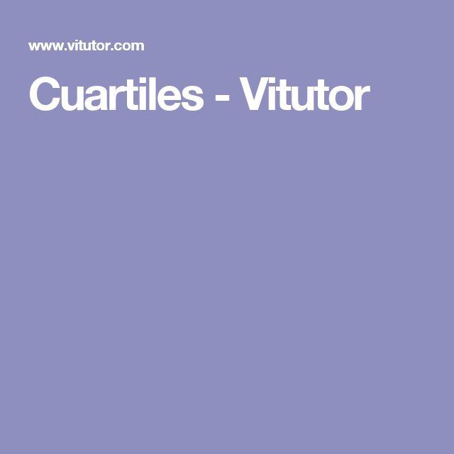 Quartiles - Vitutor