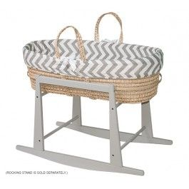 <p>Jolly Jumper's Moses Basket with quilted liner is portable so you can keep baby close to you everywhere in the home. It creates a beautiful and serene sleeping area for baby while providing ease and peace of mind for parents.</p><br/><p>(Rocking Stand is sold separately.)</p>