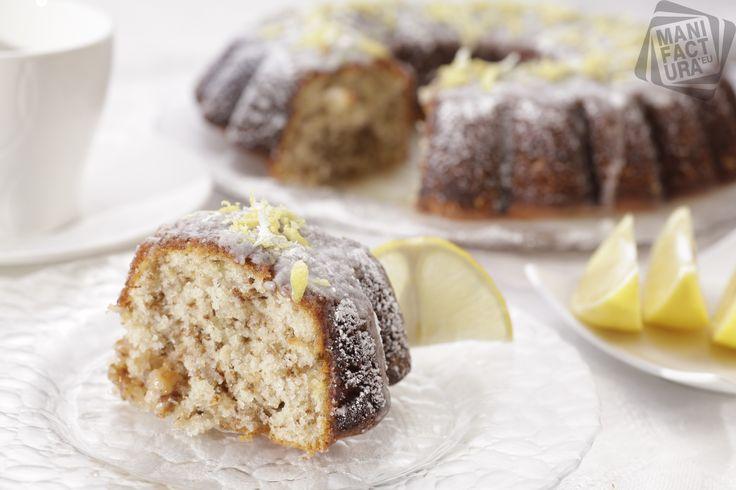 Albanian cake with lemon topping. Albanian cuisine