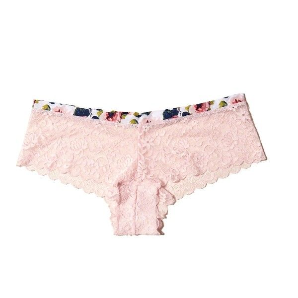 Hollister Gilly Hicks Patterned-Trim Lace Short ($5) ❤ liked on Polyvore featuring shorts, light pink lace, fitted shorts, print shorts, patterned shorts, light pink shorts and short shorts
