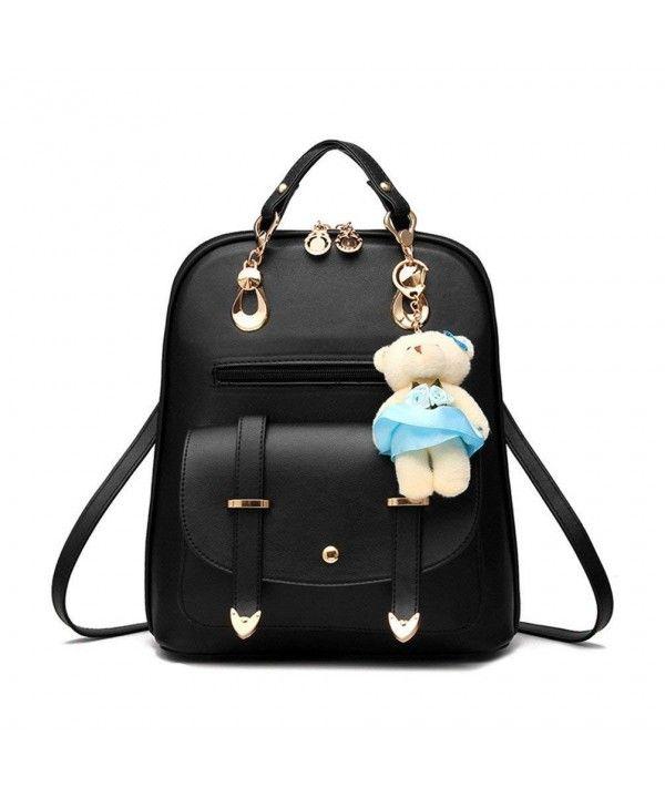 Retro Women Fashion PU Leather Shool Bag Casual Backpack Shoulder ... 233d375cf2049