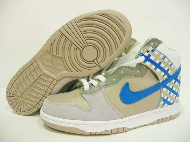 Nike Dunk High Crisp Khaki White Beige Medium Blue