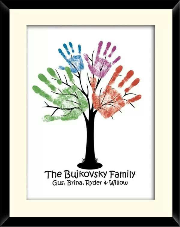 Family tree ~ Cute idea to do w/ your kids/grandkids