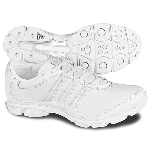 In case any of you want to relive your old high school cheer days....these feature a soft leather upper for hospital floor-hopping comfort. The non-marking outsole makes these shoes perfect for use on a range of surfaces, such as clinical tiles, carpeted offices, or the grass on you run through on the way to class when youre having a rushed morning! Adidas Cheer Sport Shoes. Priced at $55.00