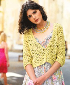 lacy cardigan to knit - Summer knits: free patterns - Craft - allaboutyou.com