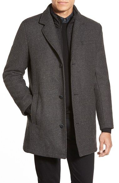 Vince Camuto Car Coat with Removable Bib available at #Nordstrom