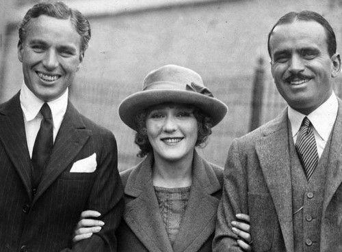 Charlie Chaplin, Mary Pickford and Douglas Fairbanks