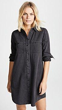 320cfe911a Madewell Black Denim Shirtdress in 2019