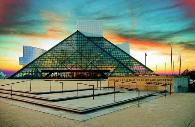 rock and roll hall of fame...... I have visited 8 times, but could go 1000 more! Addicted to good music and anything to do with it :)