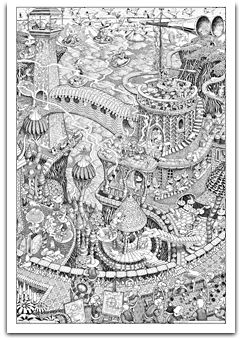56 best Coloring Pages for Grown Ups - Animals images on Pinterest