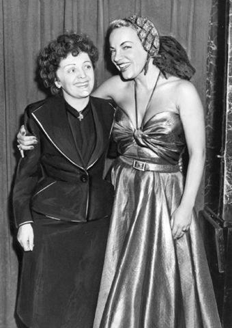 Edith Piaf and Carmen Miranda, 1950s