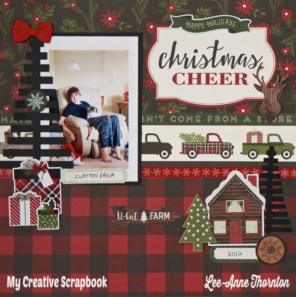 Love The Journey: Christmas Cheer Layout.  Carta Bella Christmas Delivery Collection