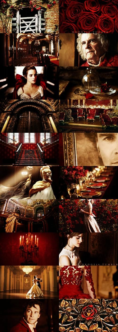 fake movie meme → Guillermo del Toro's Beauty and the Beast, with Emma Watson, Michael Fassbender, and Ian Holm