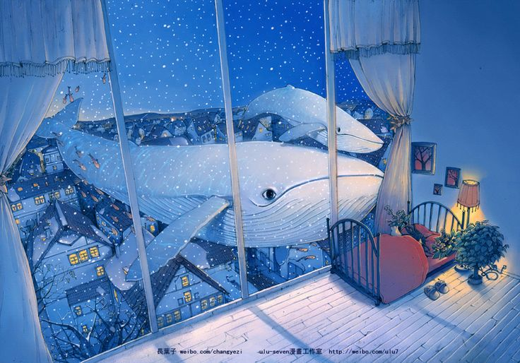 It's Snowing, Let's Play by 长叶子 http://poobbs.com/works/view/10746