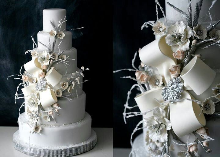 Winter Wedding Cakes Pinterest