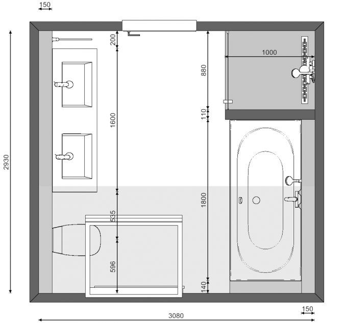 25 beste idee n over badkamer tekenen op pinterest for Grondplan badkamer