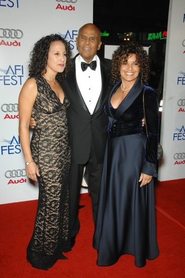 Harry Belafonte and daughters Gina and Sharri.
