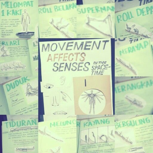 movement affects senses in the space-time