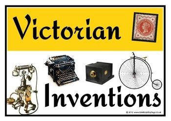 A set of 12 A4 printable posters giving key information about famous Victorian inventions. Each invention reveals who it was invented by, the year it was invented and an interesting fact. Great for topic discussion and as a unique display! Visit our TpT store for more information and for other classroom display resources by clicking on the provided links.