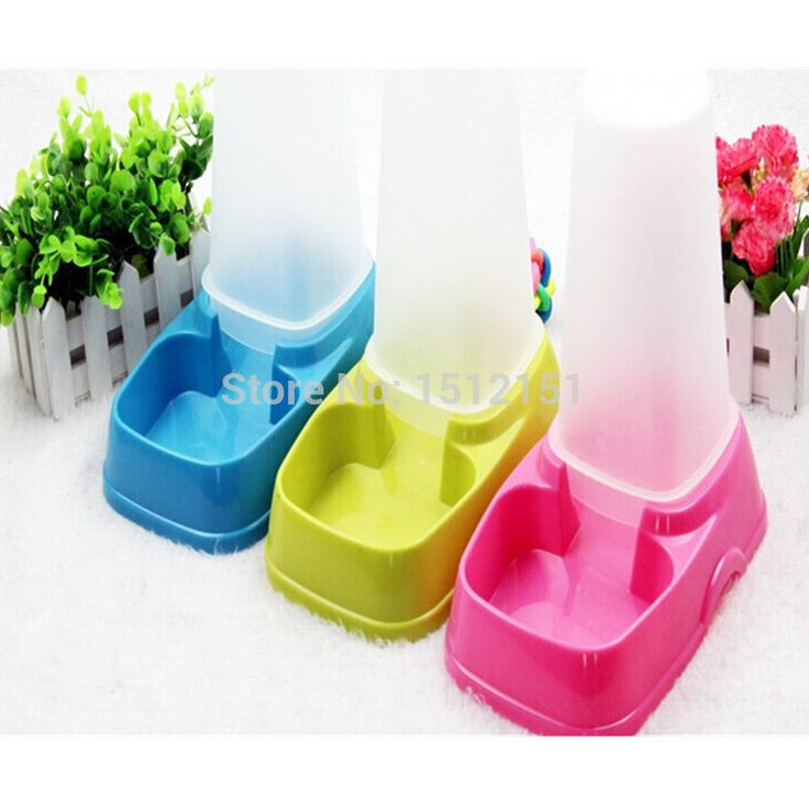 Automatic Dog Feeder Bowl Popular Pet Feeding Watering Supplies Send Color Random
