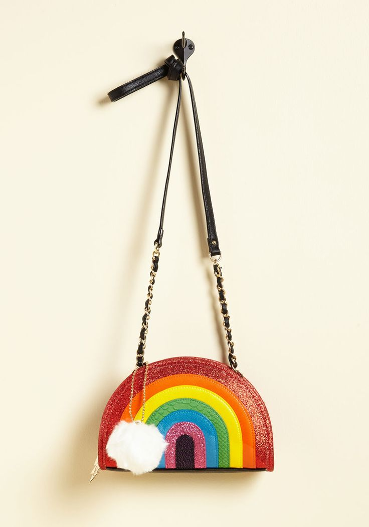 Rainbow Might Bag. On your mission to bring color back to the world you employ the talents of this handbag from Betsey Johnson! #multi #modcloth