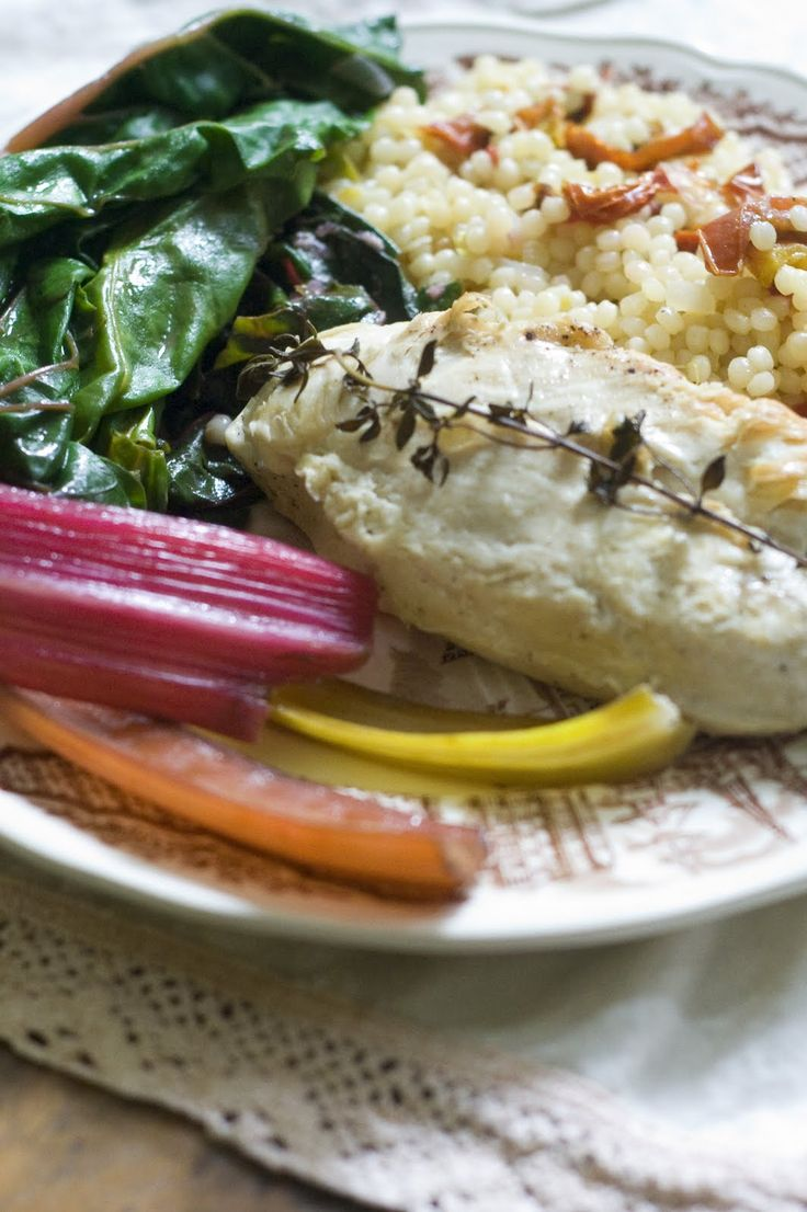 Chicken And Swiss Chard With Couscous In Brodo Recipe ...