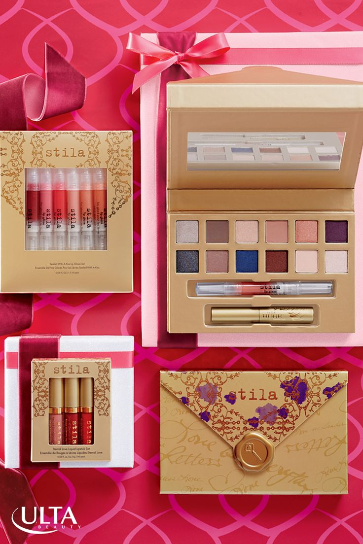 Nothing says love like a special delivery of romantic makeup essentials this holiday season! Find eyeshadow palettes, lip gloss sets and every makeup need from Stila, at Ulta Beauty. This must-have set includes expertly-selected shadows for eye looks from soft to sultry, and beautiful lip glazes to make your lips mistletoe ready!