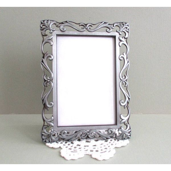 Afloralaffair 32 Liked On Polyvore Featuring Pewter Picture Frames Ornate Pi Silver Home Accessories Ornate Picture Frames Metal Picture Frames