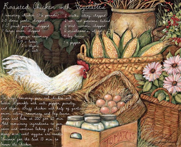 Susan Winget Roasted Chicken Lang Wallpaper American