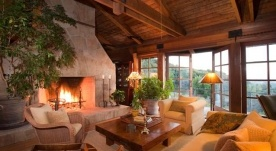 Cozy Big Sur living room.